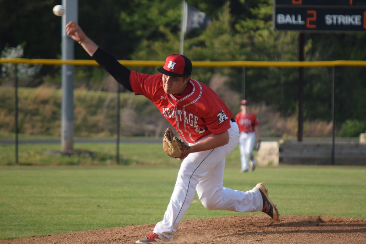 Heritage junior Cameron Taylor looked to be back in top form against Freedom allowing four earned over six-and-a-third innings of work. Full photo gallery by Dylan Gotimer!