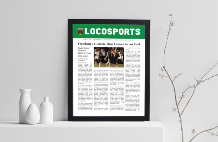 Framed LoCoSports Article