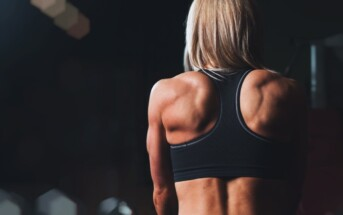 woman fitness back