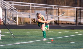 Loudoun Valley junior defender Carlea Dawson hits the ball during a game